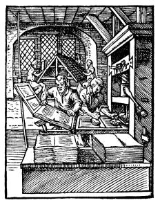 Printer in 1568